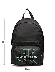 Calvin Klein - CAMPUS BP 43 GLOW - torby - black - 5