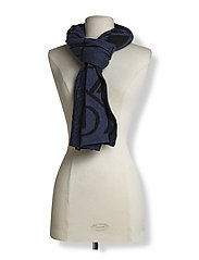CK MIX SCARF - OMBRE BLUE/BLACK