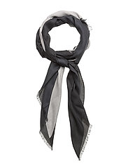 NICKY PRINT SCARF - BLACK/DUSTED IVORY