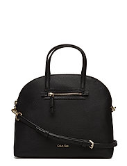 DOME MEDIUM SATCHEL - BLACK