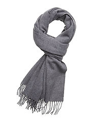 CLASSIC WOOL SCARF W - MID GREY HEATHER B38 - VOL39