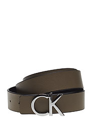 CK REV BELT GIFTBOX, - BLACK/TOBACCO