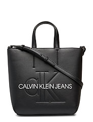 Sculpted Monogram Mi Bags Top Handle Bags Svart CALVIN KLEIN