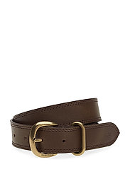 J 3cm ROUNDED BUCKLE - DARK BROWN