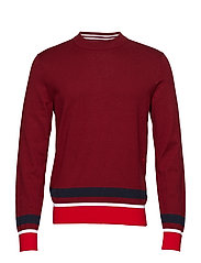 COLOR BLOCK COTTON W - IRON RED