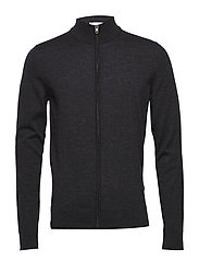 SUPERIOR WOOL ZIP TH - DARK GREY HTR