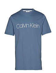 COTTON FRONT LOGO T-SHIRT - CORONET BLUE