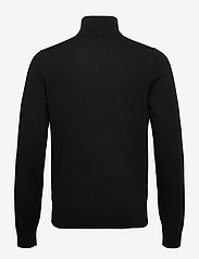 Calvin Klein - SUPERIOR WOOL ZIP-MOCK SWEATER - half zip - ck black - 1