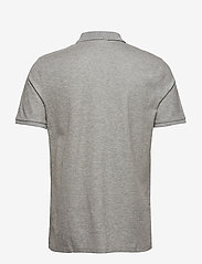 Calvin Klein - REFINED PIQUE CHEST - korte mouwen - mid grey heather - 1