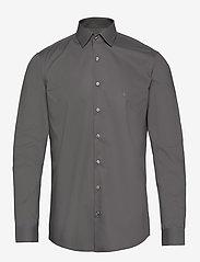 Calvin Klein - 2PLY POPLIN STRETCH SLIM SHIRT - basic shirts - charcoal - 0