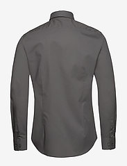 Calvin Klein - 2PLY POPLIN STRETCH SLIM SHIRT - basic shirts - charcoal - 1
