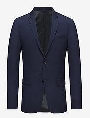 Calvin Klein - STRETCH WOOL SLIM SU - enkelknäppta kavajer - ink blue - 0