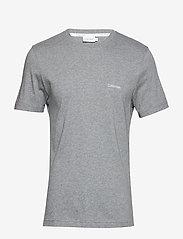 Calvin Klein - COTTON CHEST LOGO T-SHIRT - basic t-shirts - mid grey heather - 0