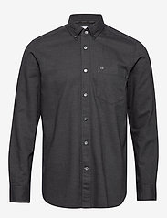Calvin Klein - BUTTON DOWN BRUSHED TWILL SHIRT - basic shirts - calvin black - 0