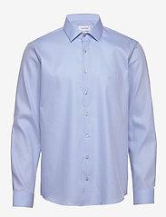 Calvin Klein - STRETCH COLLAR STRUC - basic shirts - blue - 0