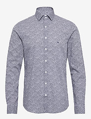 Calvin Klein - PRINTED EASY IRON SL - business shirts - navy - 0
