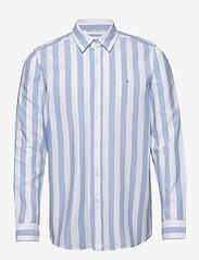 Calvin Klein - COTTON OXFORD STRIPE - oxford overhemden - bold stripe - white / vista bl - 0