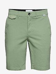 Calvin Klein - SLIM FIT GARMENT DYE - tailored shorts - granite green - 0