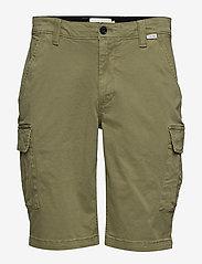 Calvin Klein - GARMENT DYED CARGO SHORTS - cargo shorts - delta green - 0