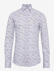 Calvin Klein - PRINTED EASY CARE SLIM SHIRT - casual overhemden - navy - 0
