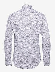 Calvin Klein - PRINTED EASY CARE SLIM SHIRT - casual overhemden - navy - 1