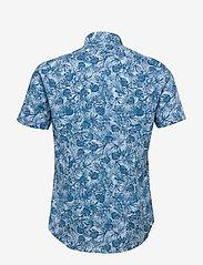 Calvin Klein - PALM PRINT S/S SLIM - overhemden korte mouwen - blue - 1