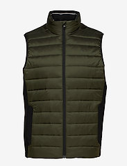 Calvin Klein - LIGHT WEIGHT SIDE LOGO VEST - vests - dark olive - 0