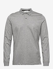 Calvin Klein - LIQUID TOUCH LONG SLEEVE POLO - lange mouwen - mid grey heather - 0