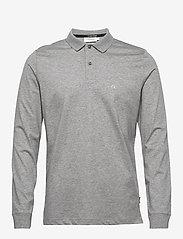 Calvin Klein - LIQUID TOUCH LONG SLEEVE POLO - polos à manches longues - mid grey heather - 0