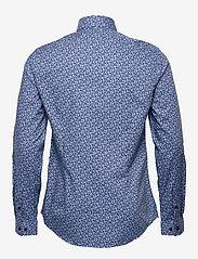 Calvin Klein - FLOWER PRINT SLIM SHIRT - business shirts - blue - 1