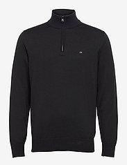 Calvin Klein - COTTON SILK 1/4 ZIP SWEATER - half zip - ck black - 0