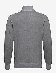 Calvin Klein - COTTON SILK 1/4 ZIP SWEATER - half zip - mid grey heather - 1