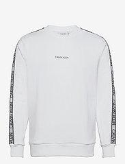Calvin Klein - ESSENTIAL LOGO TAPE SWEATSHIRT - truien - bright white - 0