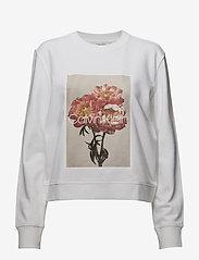 Calvin Klein - PRT GRAPHIC  SWEATSH - sweats - white - 0