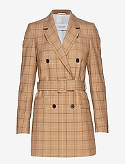 Calvin Klein - WINDOWPANE CHK DB LO - wool jackets - windowpane check - 0