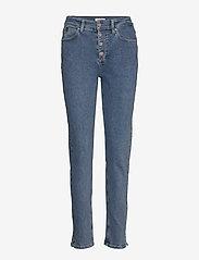 Calvin Klein - HIGH RISE SLIM PANT - wąskie dżinsy - natal blue - 0