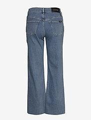 Calvin Klein - WIDE LEG CROP PANT - broeken met wijde pijpen - natal blue - 1