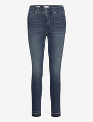 Calvin Klein - HIGH RISE SKINNY ANKLE - slim jeans - dark blue - 0