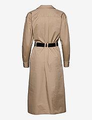 Calvin Klein - SILKY TOUCH LS SHIRT DRESS - hverdagskjoler - humus - 1