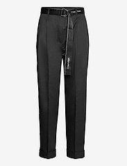 Calvin Klein - SILKY TOUCH PANT - pantalons droits - ck black - 0