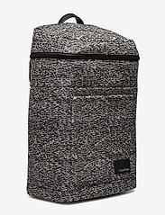 Calvin Klein - ILAY JACQUARD BACKPA - ryggsäckar - black/dusty ivory - 2