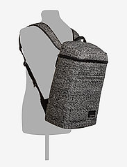 Calvin Klein - ILAY JACQUARD BACKPA - ryggsäckar - black/dusty ivory - 6