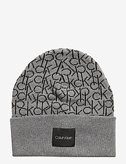 Calvin Klein - CK KNITTED SCARF&BEA - beanies - mid grey heather b38 - vol39 - 3
