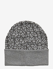 Calvin Klein - CK KNITTED SCARF&BEA - beanies - mid grey heather b38 - vol39 - 4