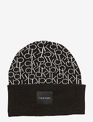 Calvin Klein - CK KNITTED SCARF&BEA - mutsen - black - 3