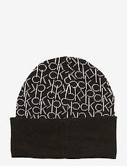 Calvin Klein - CK KNITTED SCARF&BEA - mutsen - black - 4