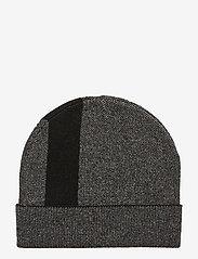 Calvin Klein - KNIT LOGO BEANIE - beanies - black - 1
