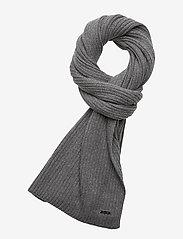 Calvin Klein - BASIC RIB SCARF - scarves - mid grey heather - 0
