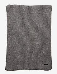 Calvin Klein - BASIC RIB SCARF - scarves - mid grey heather - 2