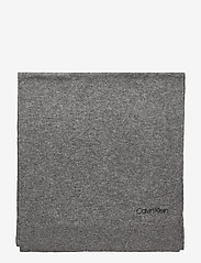 Calvin Klein - BOILED WOOL SCARF - sjaals - mid grey heather - 2